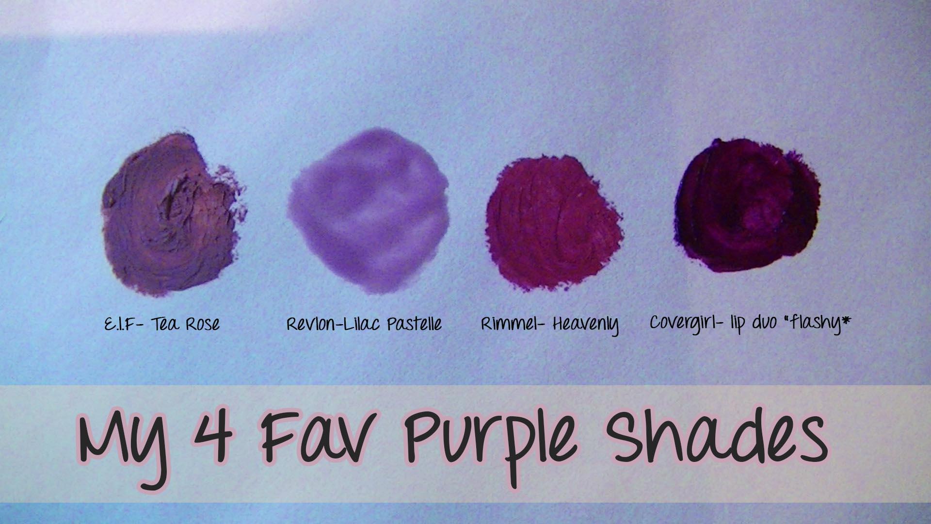 my 4 favourite purple lipsticks