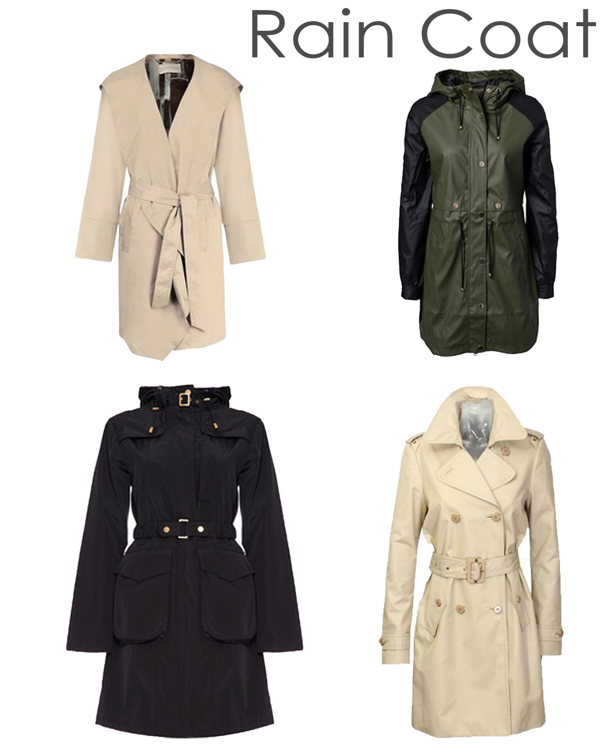 Fashion Rain Coats | Down Coat