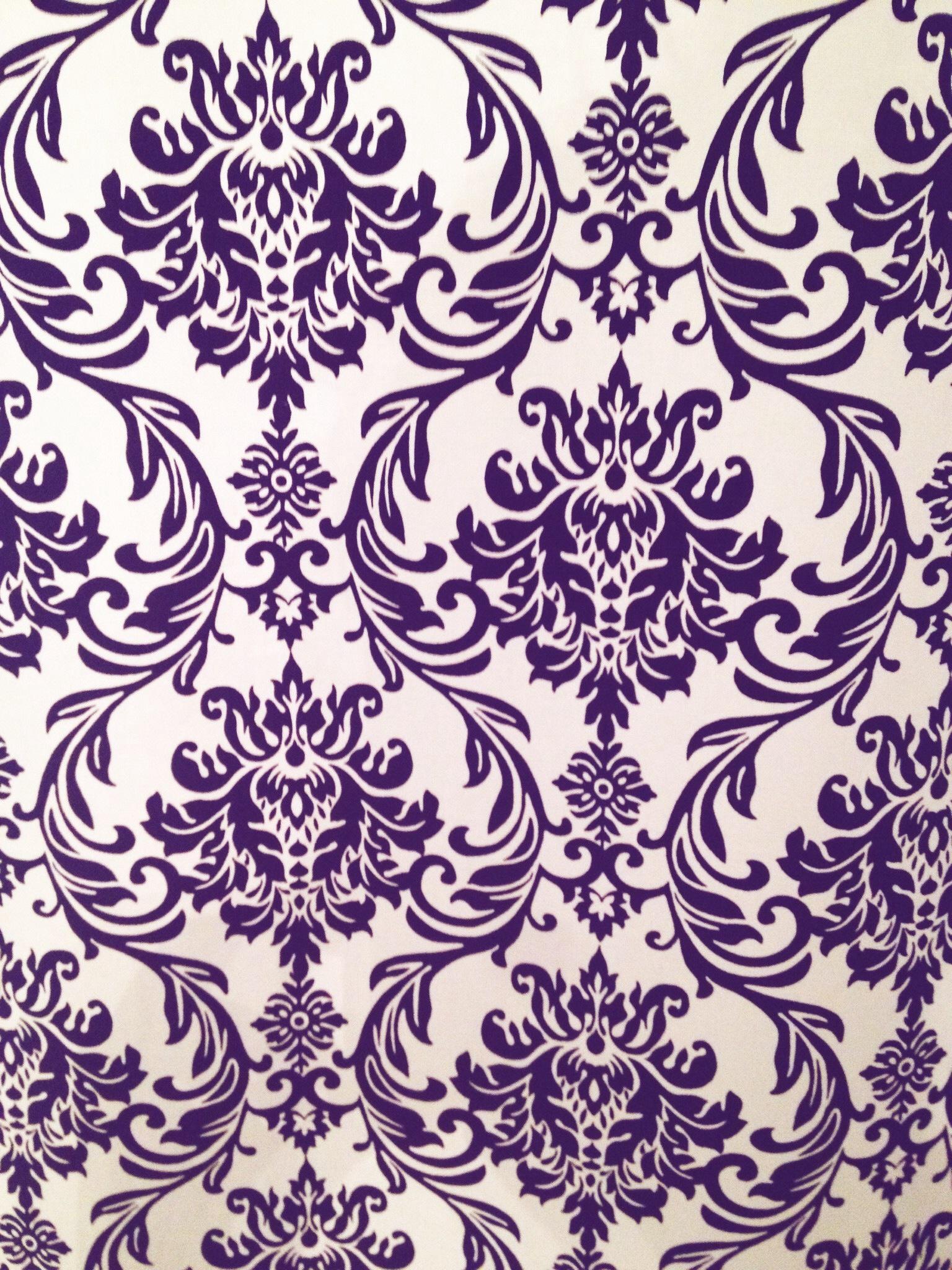 Purple Damask Pattern