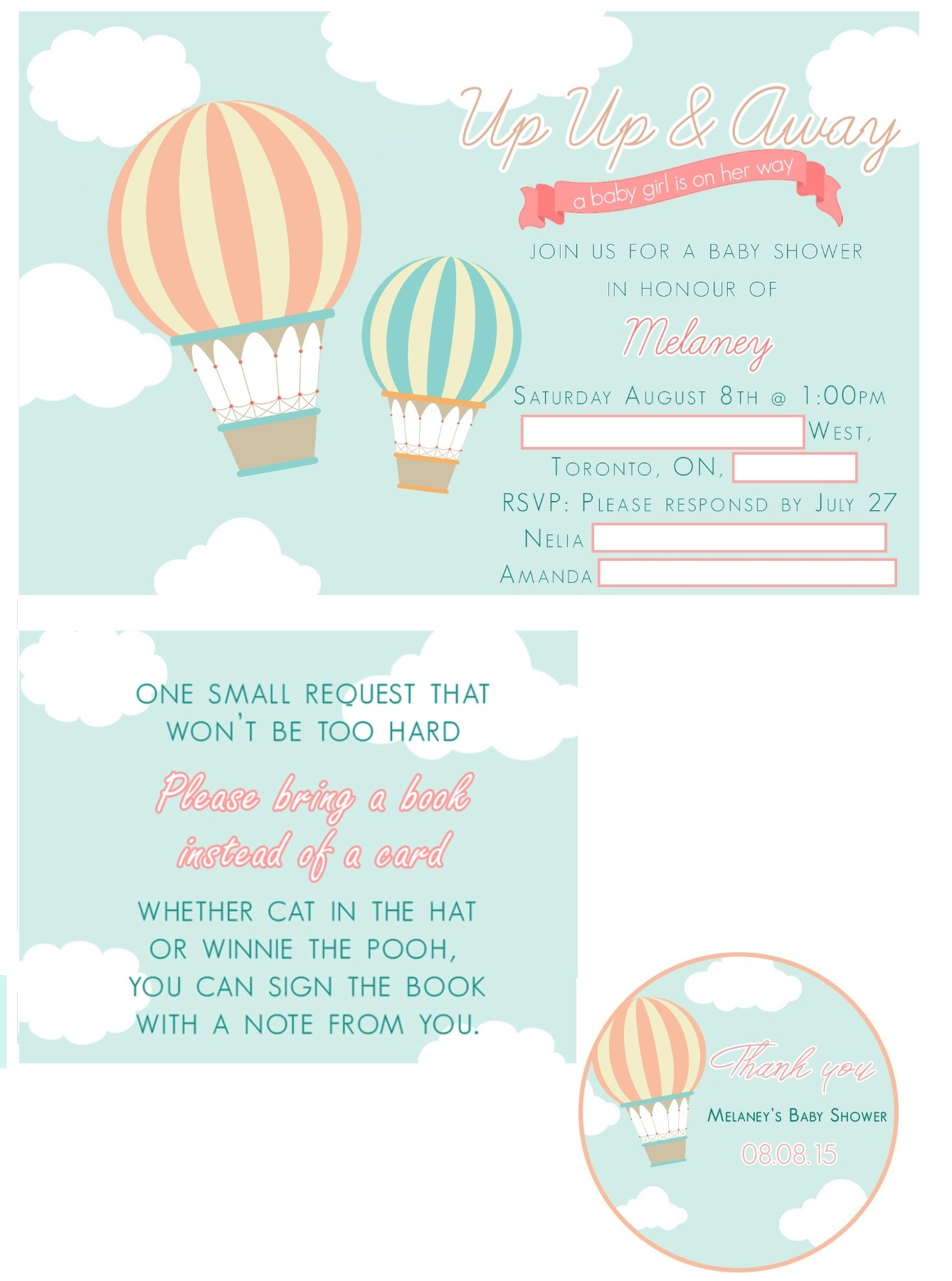 Up Up and Away Baby Shower